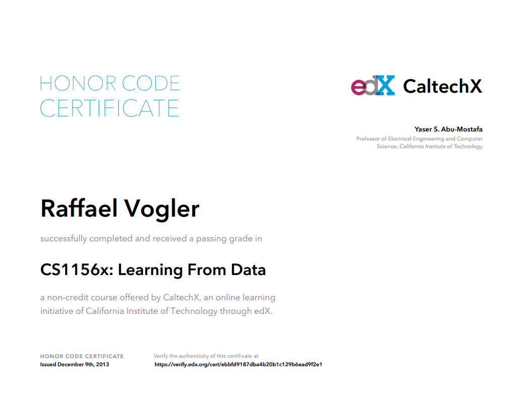 "Learning From Data"" by Yaser Abu-Mostafa (Caltech) on edX.org 