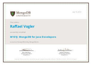 Free and Certified MongoDB Online Courses | joy of data