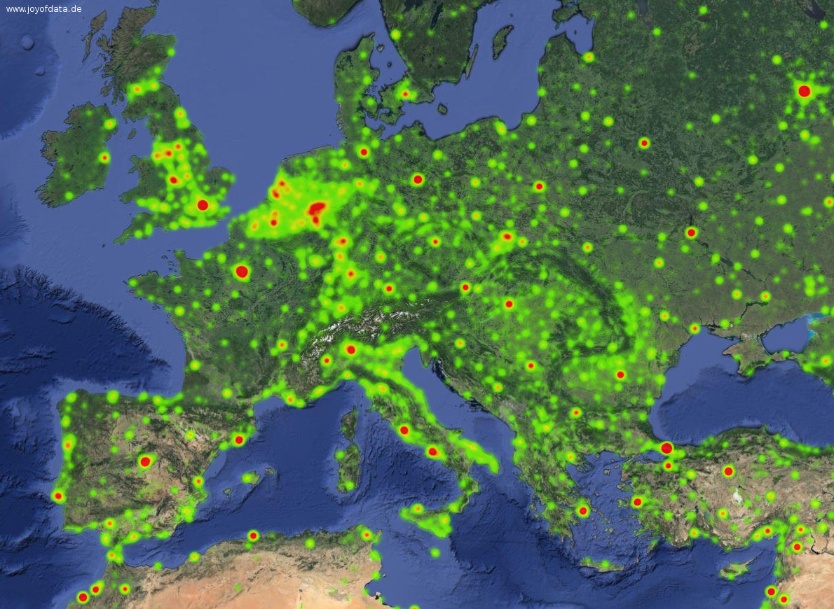 Interactive Heatmaps with Google Maps API v3 | joy of data