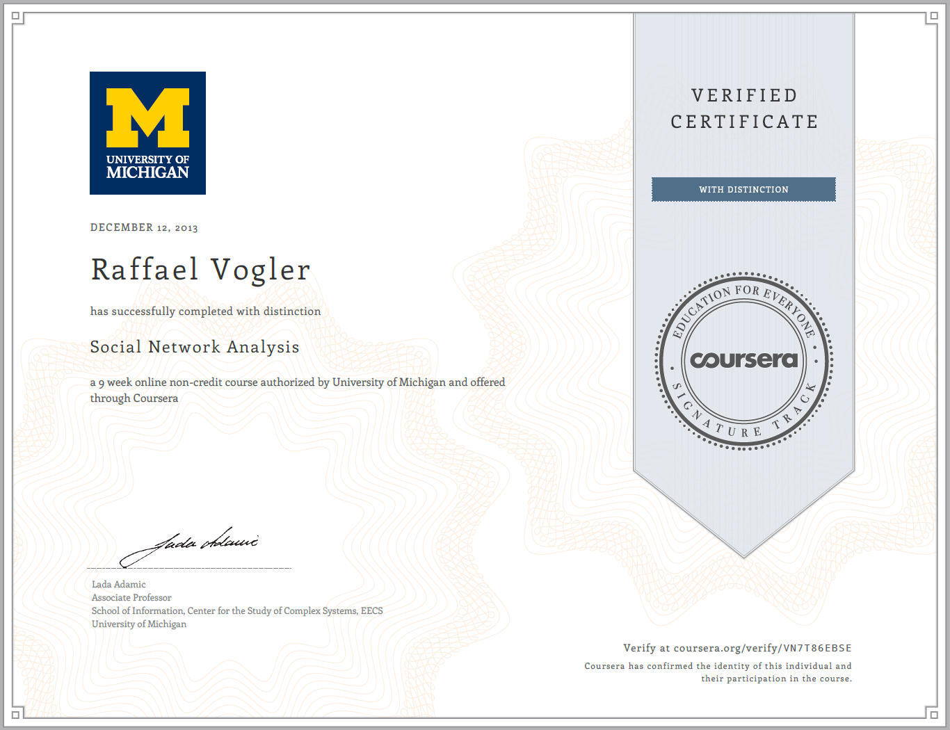 Free online courses on artificial intelligence cloudirec social network analysis by lada adamic on coursera joy yadclub Images